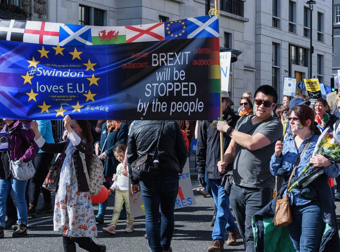 Anti Brexit demonstrators
